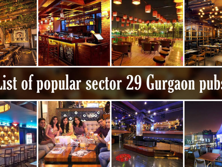 List of popular sector 29 Gurgaon pubs